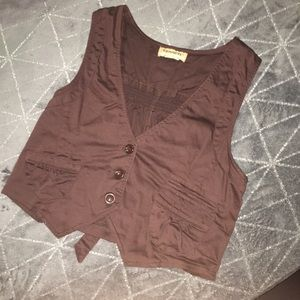 Tops - Chocolate brown fitted vest